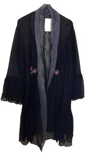 Lee Andersen Wearable Art Overlay Silk Custom Black/Iridescent Jacket