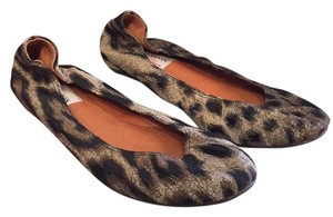 Lanvin Mulitcolored animal print - black, brown, ivory Flats