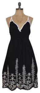 Jaloux short dress BLACK Eyelet Cut-out Embroidered on Tradesy