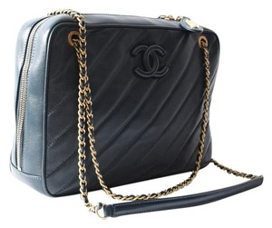 Chanel Metiers D'art Camera Color-blue Satchel in Blue