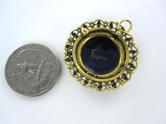 Francesca's 14KT YELLOW GOLD PENDANT FRENCH VICTORIAN SEED PEARL BROOCH ANTIQUE COLLECTIBLE Image 2