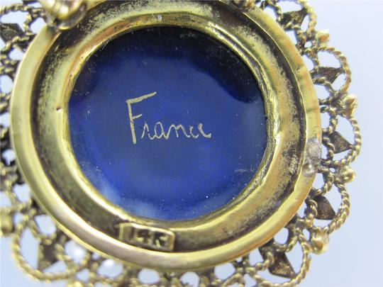 Francesca's 14KT YELLOW GOLD PENDANT FRENCH VICTORIAN SEED PEARL BROOCH ANTIQUE COLLECTIBLE Image 6