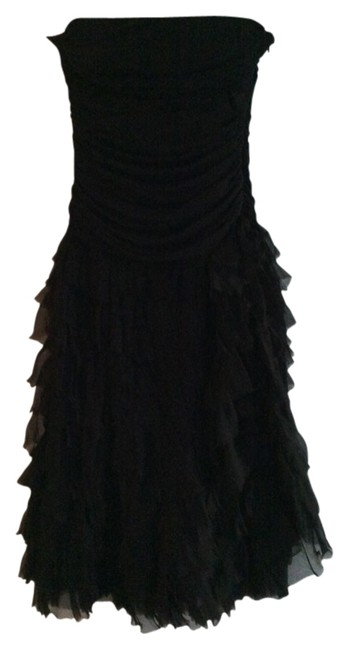 Preload https://img-static.tradesy.com/item/1644436/bcbgmaxazria-black-ruffle-silk-skirt-knee-length-cocktail-dress-size-6-s-0-0-650-650.jpg