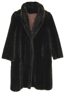 Tissavel of France Vintage Long Faux Fur Coat