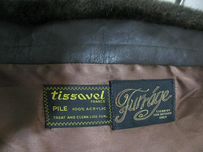 Tissavel of France Vintage Long Faux Fur Brown Size M 10 12 Women Jacket Winter Thick M Coat