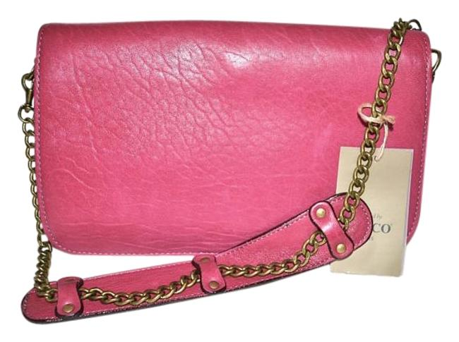 Item - Messenger Bag Paris Lambskin Chain Handbag Fuchsia Pink Soft Leather Baguette