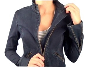 AG Adriano Goldschmied Denim Zip-up Designer Zipper Womens Jean Jacket