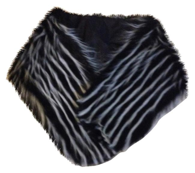 Item - Black/Grey/White Faux Fur Scarf/Wrap-price Reduced To Sell Scarf/Wrap