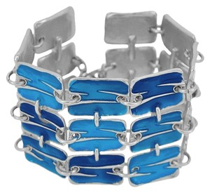 24-kt Gold-Plated Pewter Resin Thick Rectangle Bracelet