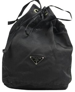 Prada Nylon Cosmetic Make Up Travel Mini Pouch Bucket Bag PRTY01