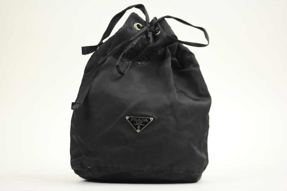 b822c196243a Prada Nylon Cosmetic Make Up Travel Mini Pouch Bucket Bag PRTY01 - 91% Off  Retail