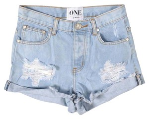 One Teaspoon Distressed Ripped Vintage Shorts Saint