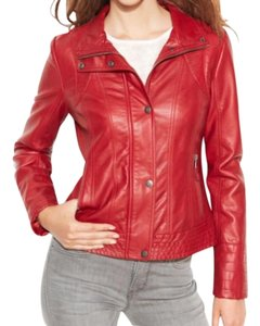 Jessica Simpson Faux Leather Moto Leather Motorcycle Jacket