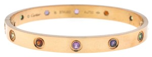 Cartier Cartier 18k Rose Gold LOVE Colored Stones Bracelet