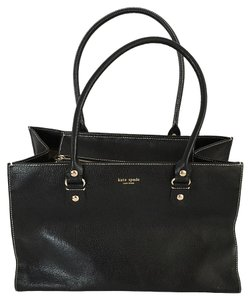 Kate Spade Pebbled Leather Bucket Tote in Black