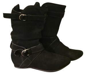 Nordstrom Suede Slouch Black Boots