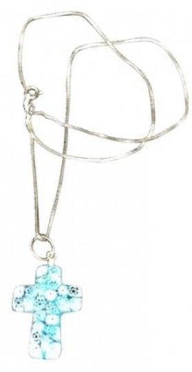 Preload https://item1.tradesy.com/images/turquoise-italian-glass-cross-necklace-16445-0-0.jpg?width=440&height=440