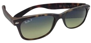 Ray-Ban New Polarized RAY-BAN Sunglasses NEW WAYFARER RB 2132 894/76 55-18 Havana Tortoise Frame w/Blue-Green Lenses