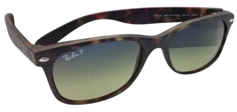 1d67bc4c86 Ray-Ban New Wayfarer Rb 2132 894 76 Havana Frame W Blue-green Lenses ...