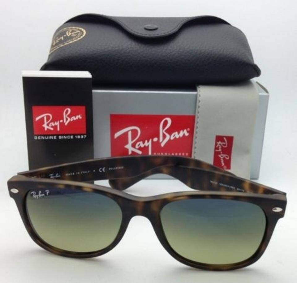 1edbe612f69 Ray-Ban New Wayfarer Rb 2132 894 76 Havana Frame W Blue-green Lenses  Polarized 894 76 55-18 Tortoise W Blue-green Sunglasses - Tradesy