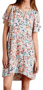 Anthropologie short dress Multi-color Swing Flutter Sleeves on Tradesy