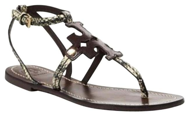 Tory Burch Snake Embossed Chandler Flat Thong Sandals Size US 5.5 Regular (M, B) Tory Burch Snake Embossed Chandler Flat Thong Sandals Size US 5.5 Regular (M, B) Image 1