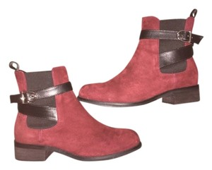 Balenciaga Suede Red Leather Burgundy Boots