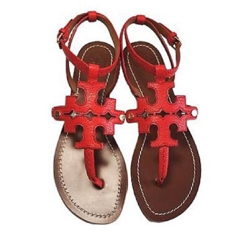 2726350b6 Tory Burch Red Chandler Flat Thong Sandals Size US 9.5 Regular (M