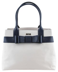Kate Spade Tote in Dark Blue/Cream/Gold