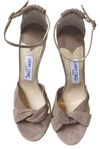 Jimmy Choo Tan Platforms