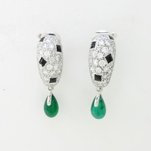 Cartier Cartier Panthere Diamond Onyx Emerald Earrings