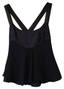 Diane von Furstenberg Top Dark Navy Blue