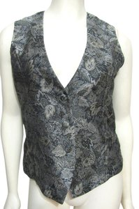 Chico's Silver Floral Pattern Vest