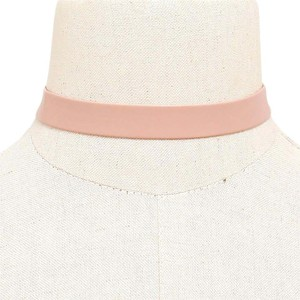 Modern Edge Faux Leather Nude Choker Necklace