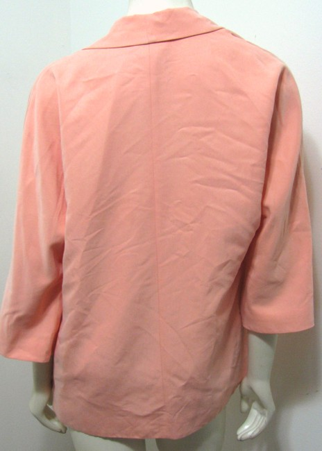 Chico's Pink Orange Vest Open Front Size 0 Size Small Silk Cardigan