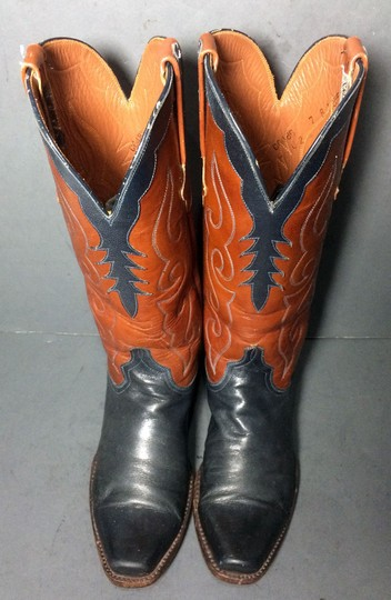 Lucchese Black Cowgirl Size 7 Brown Boots