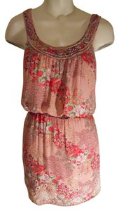Chelsea & Violet short dress pink floral print on Tradesy