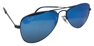 Ray-Ban Junior Collection Kids Ray-Ban Sunglasses RJ 9506-S 201/55 Black Aviator Frame w/ Blue Mirror Lenses