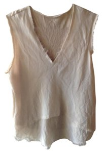 Modern Vintage Relaxed Fit Lace Flowy Tank Button Down Shirt beige