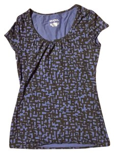 Merona Print Cotton Comfortable T Shirt Blue