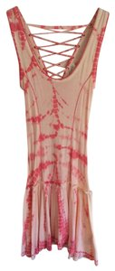 forever twenty one boutique short dress peach Tie Dye Lace Up on Tradesy