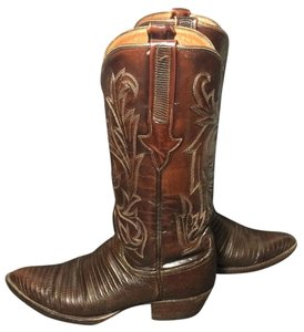 Lucchese 1883 Lizard Brown Boots
