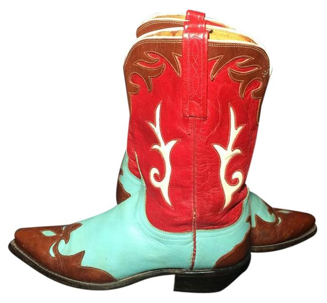 Lucchese Blue 1883 Red Brown Leather Western Cowgirl Boots/Booties Size US 6 Regular (M, B) Lucchese Blue 1883 Red Brown Leather Western Cowgirl Boots/Booties Size US 6 Regular (M, B) Image 1