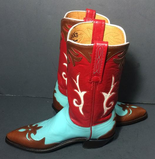 Lucchese 1883 Cowgirl Size 6 Blue Boots