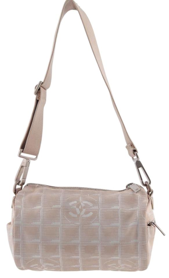 a4d0bd8b6820 Chanel Vintage Cc Canvas Small - Travel Line Beige Nylon Shoulder Bag