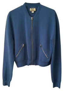 Acne Studios Bomber Monogram Acne Jeans Blue Jacket