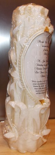 Lillian Rose White Unity Candles