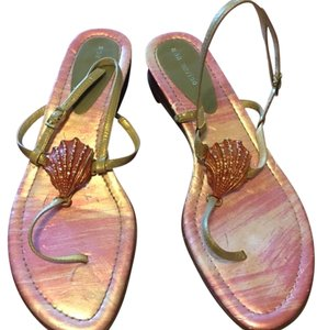 Ann Marino peach/gold Sandals