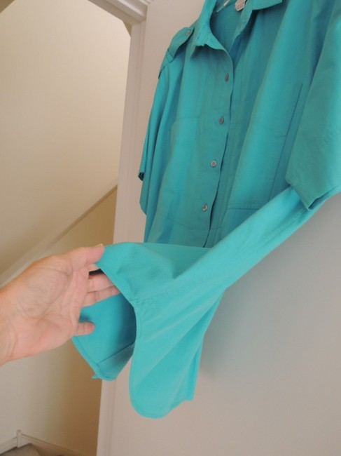 Other Button Down Shirt Teal Green