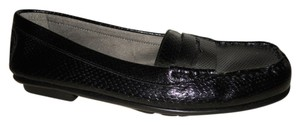 Aerosoles Faux Snake Skin Man Made black Flats